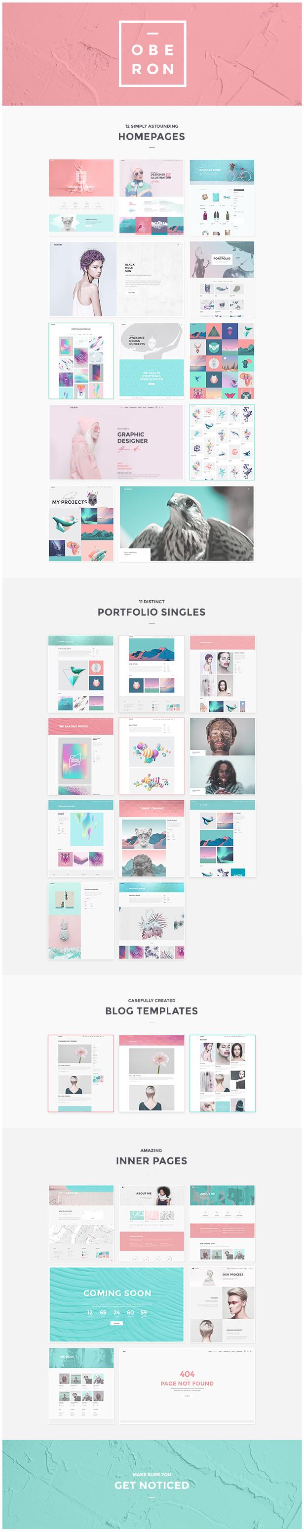 Oberon - Freelancer Portfolio Theme - 1